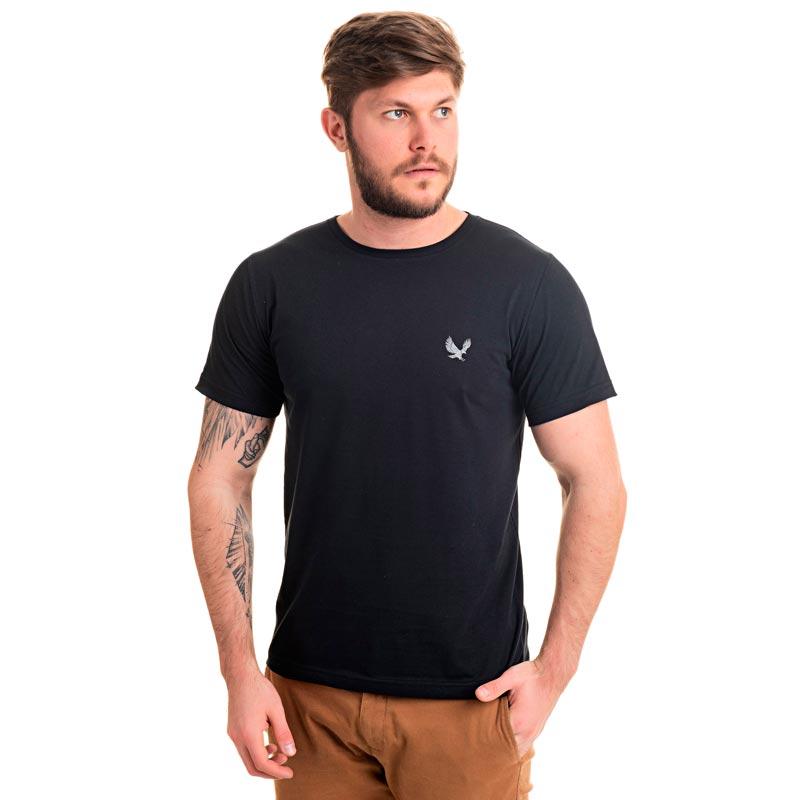 Camiseta Decoy Adulto Masculina Básica Águia Preto
