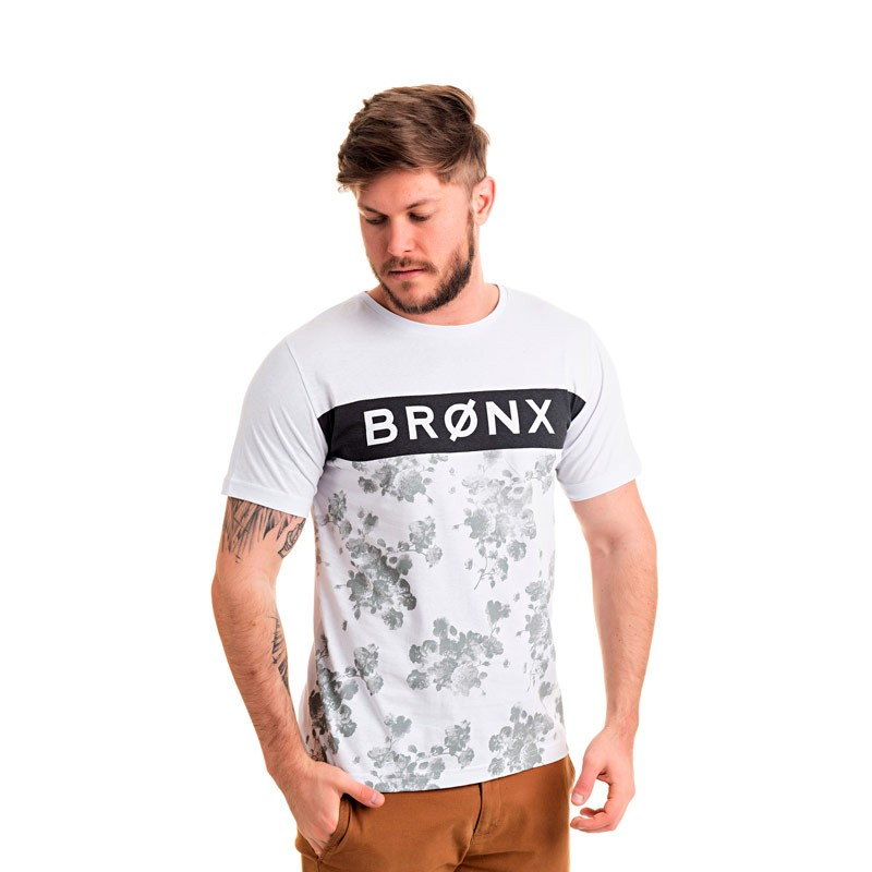 Camiseta Adulto Masculina Bronx Branco