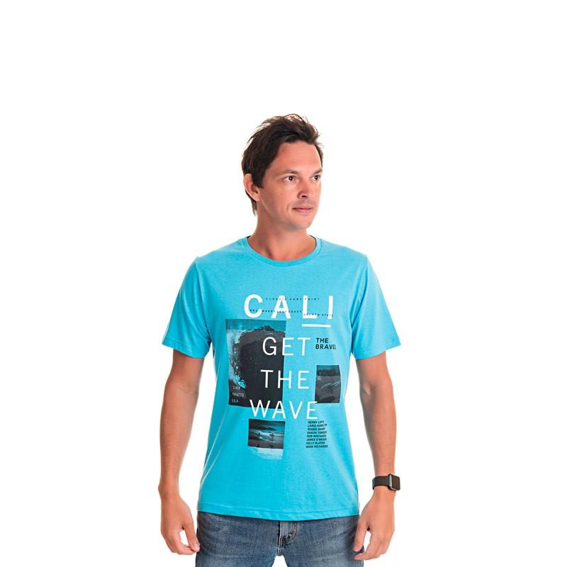 Camiseta Adulto Masculina-Cali Azul