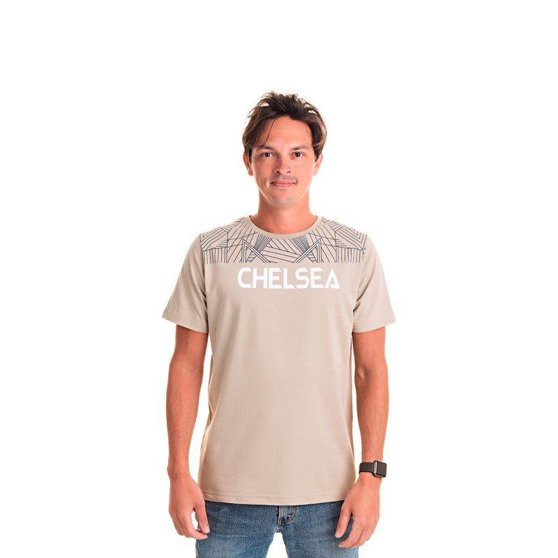 Camiseta Adulto Masculina Chelsea Bege