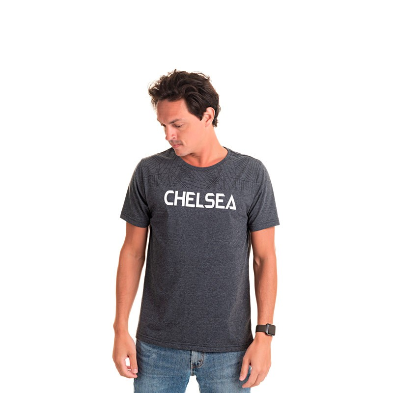 Camiseta Adulto Masculina Chelsea Preto