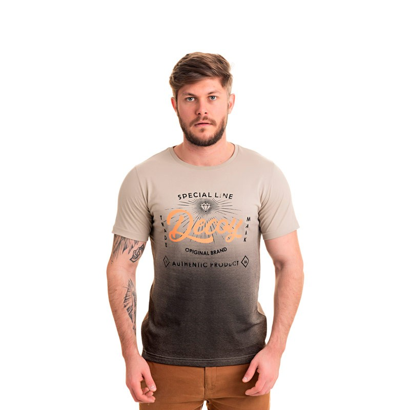 Camiseta Adulto Masculina  Decoy Bege