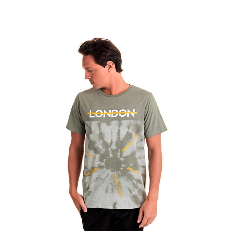 Camiseta Adulto Masculina London Verde