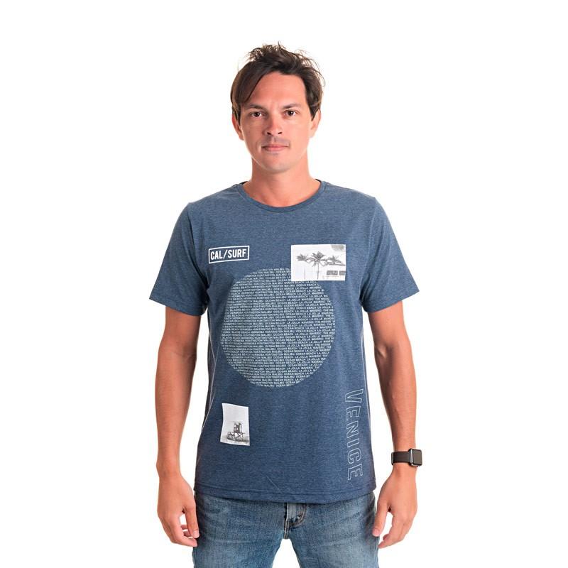 Camiseta Adulto Masculina Surf Azul