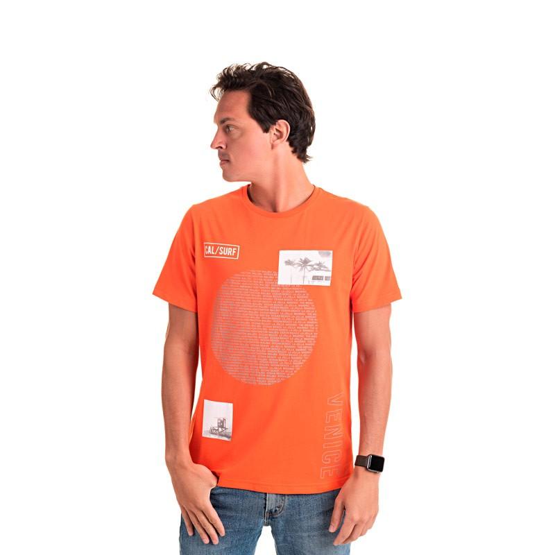 Camiseta Adulto Masculina Surf Laranja
