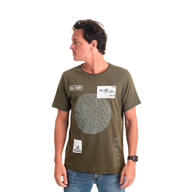Camiseta Adulto Masculina Surf Verde