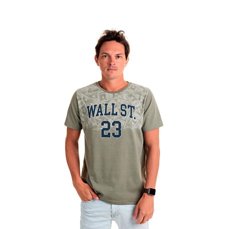 Camiseta Adulto Masculina Wall St Verde