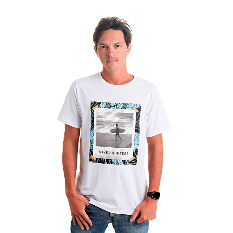 Camiseta Decoy Adulto Masculina Waves Branco