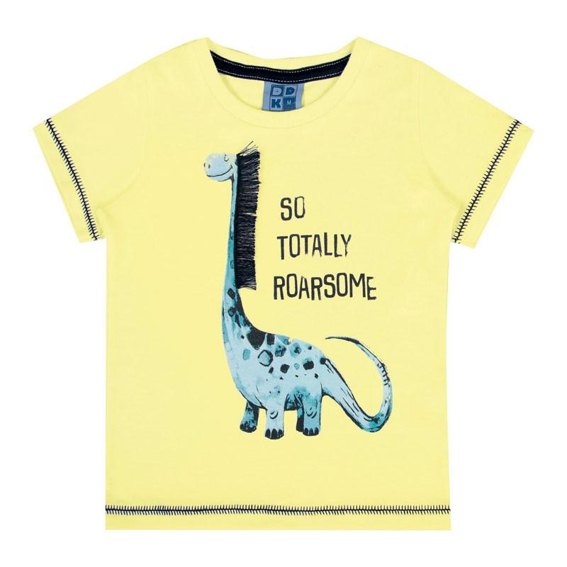 Camiseta Bebê Menino Interativa Amarelo