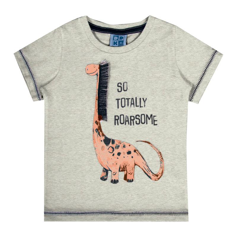 Camiseta Bebê Menino Interativa Cinza