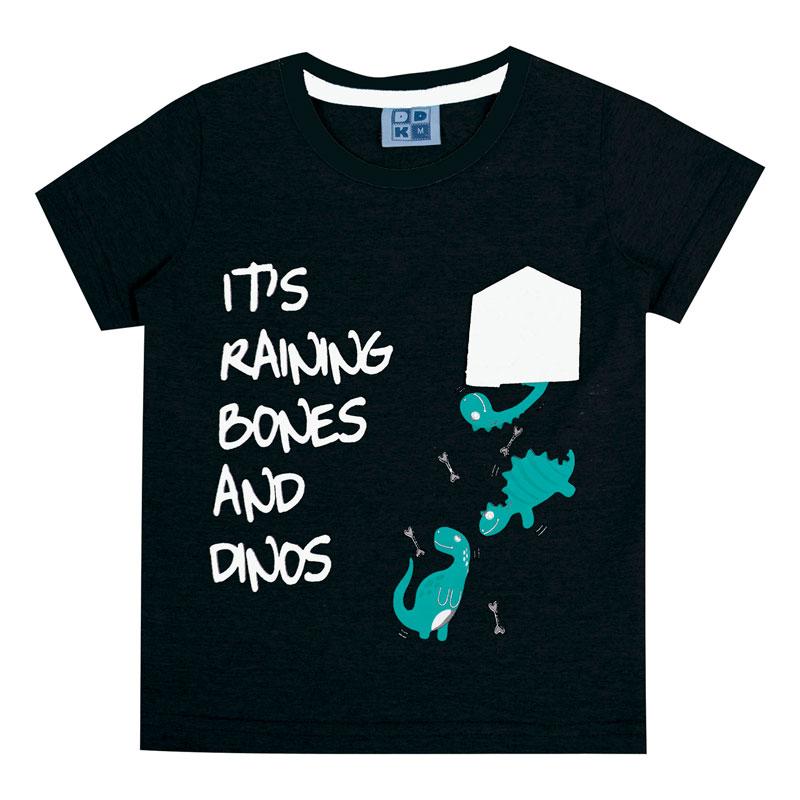 Camiseta Bebê Menino Interativa Preto