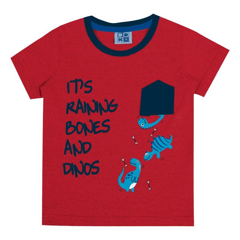 Camiseta Bebê Menino Interativa Vermelho