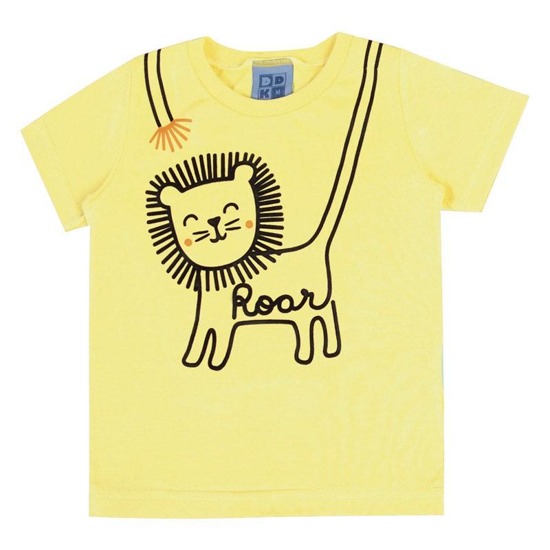Camiseta Bebê Menino Roar Amarelo