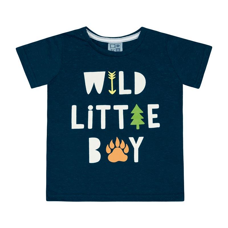 Camiseta Bebê Menino Wild Little Boy Azul