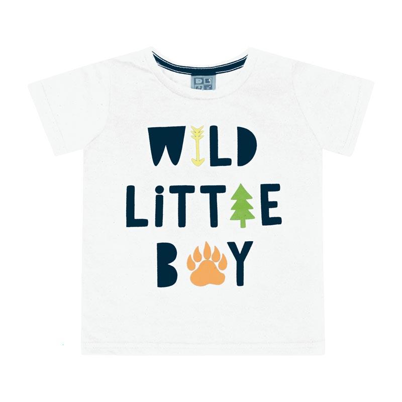 Camiseta DDK Bebê Menino Wild Little Boy Branco