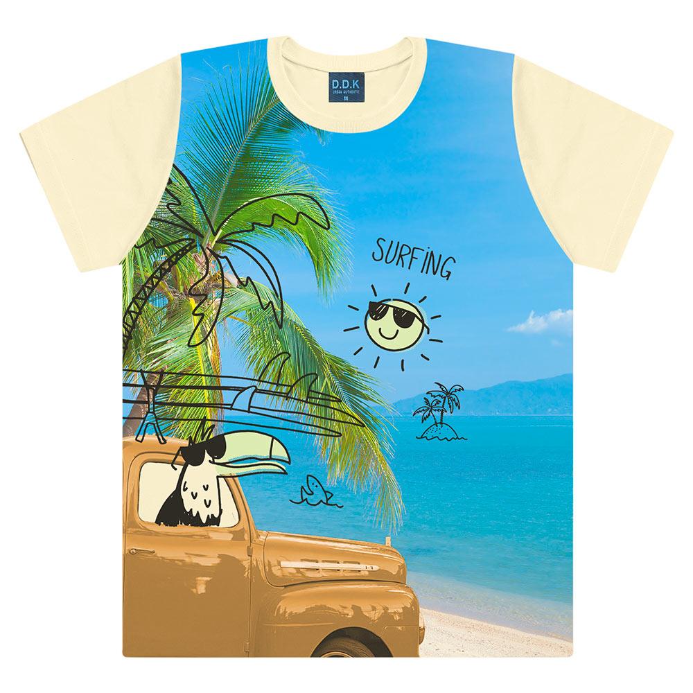 Camiseta Bebê Tropical - DDK