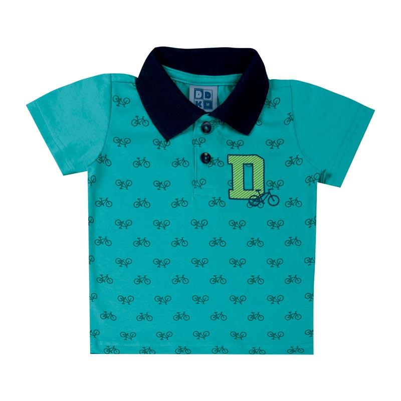 Camiseta DDK Bebê Menino Bicicleta Verde