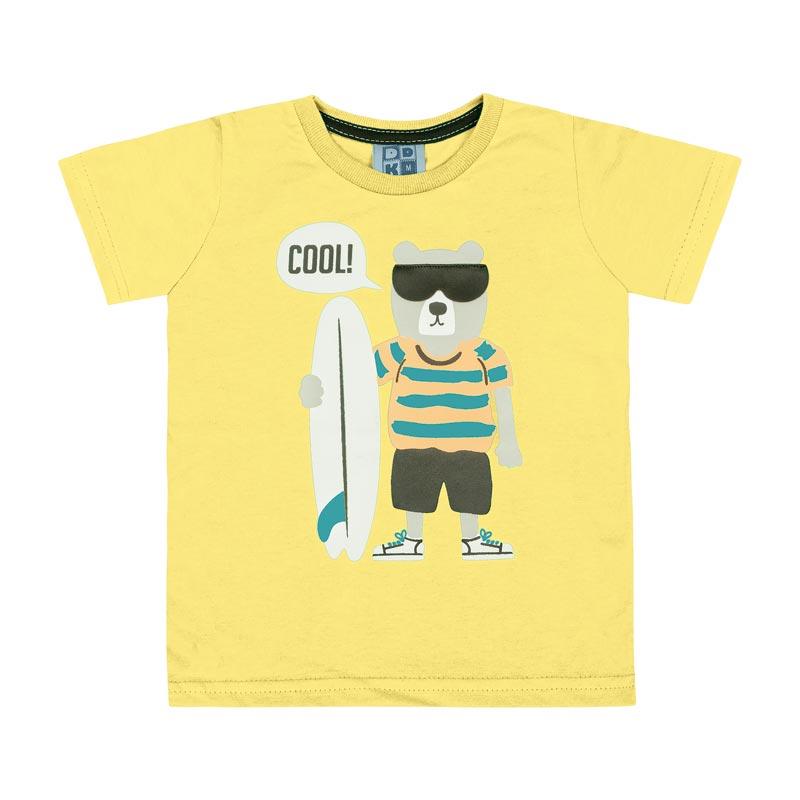 Camiseta DDK Bebê Menino Cool Amarelo