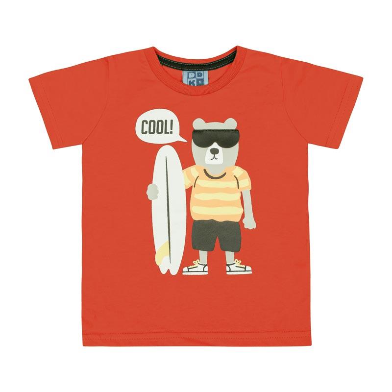 Camiseta DDK Bebê Menino Cool Vermelho
