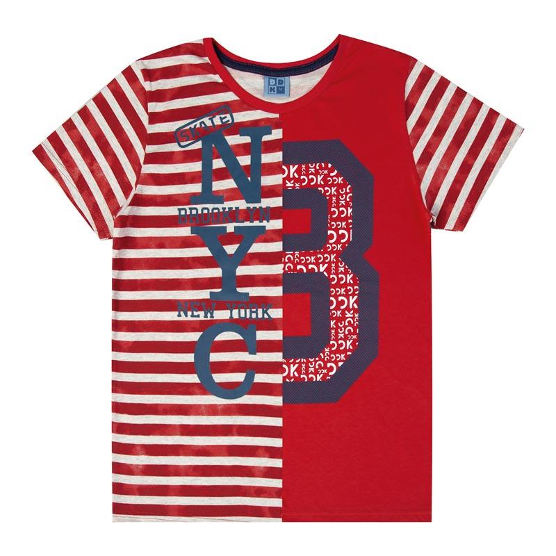 Camiseta DDK Infantil Menino 8 Vermelho