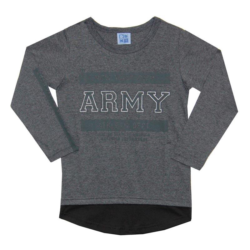 Camiseta DDK Infantil Menino Army Cinza