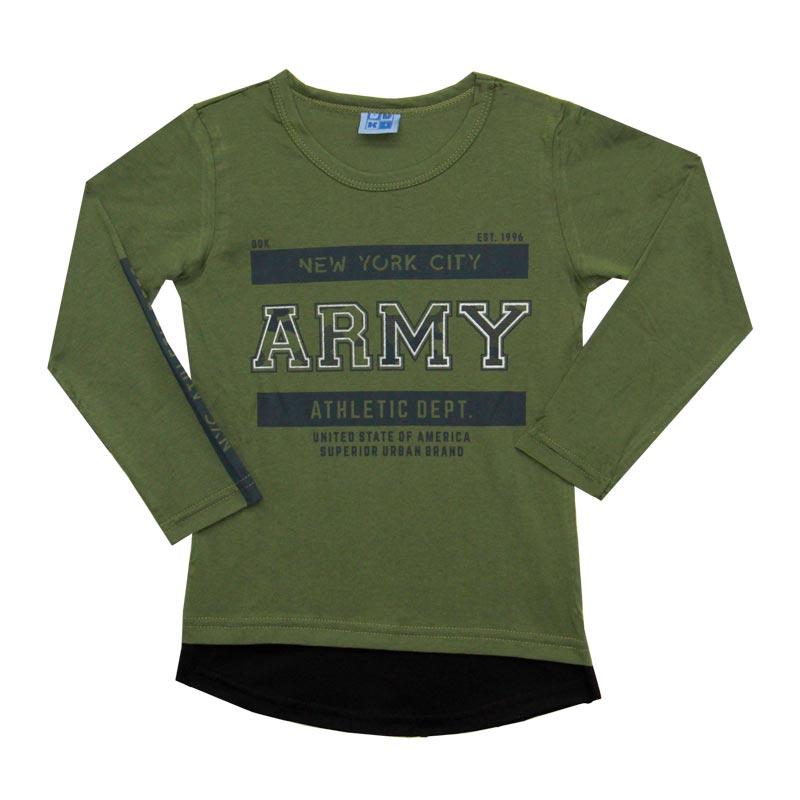 Camiseta DDK Infantil Menino Army Verde