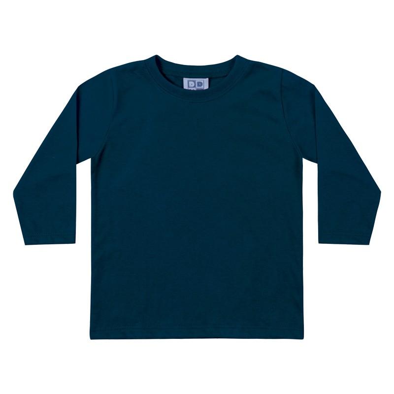 Camiseta DDK Infantil Menino Básica Azul