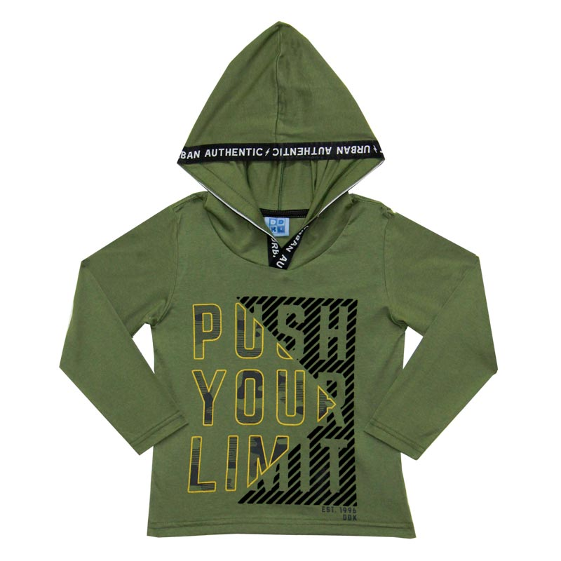 Camiseta DDK Infantil Menino com Capuz Verde