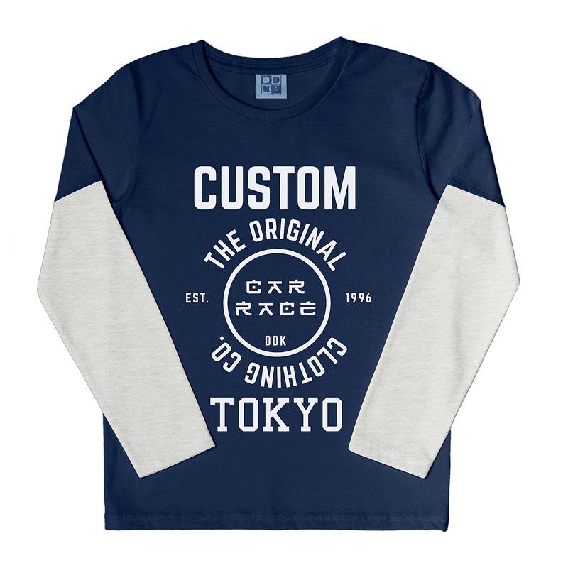 Camiseta DDK Infantil Menino Custom Azul
