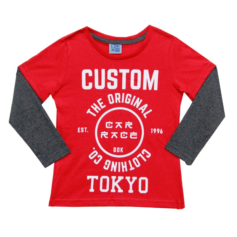 Camiseta DDK Infantil Menino Custom  Vermelho