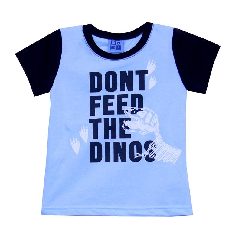 Camiseta DDK Infantil Menino Dinos Azul
