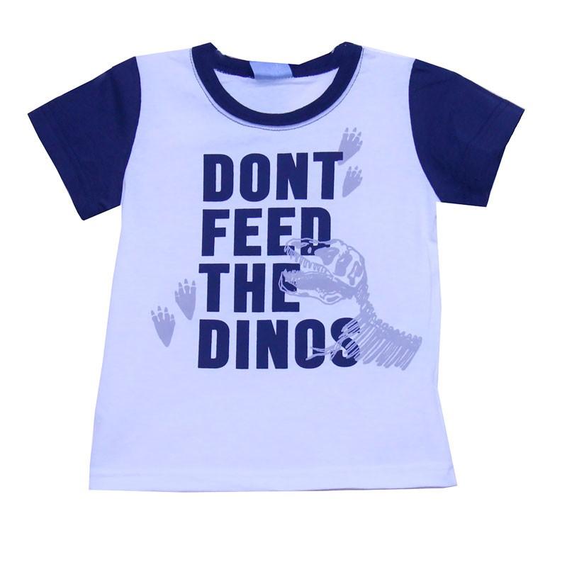 Camiseta DDK Infantil Menino Dinos Bege