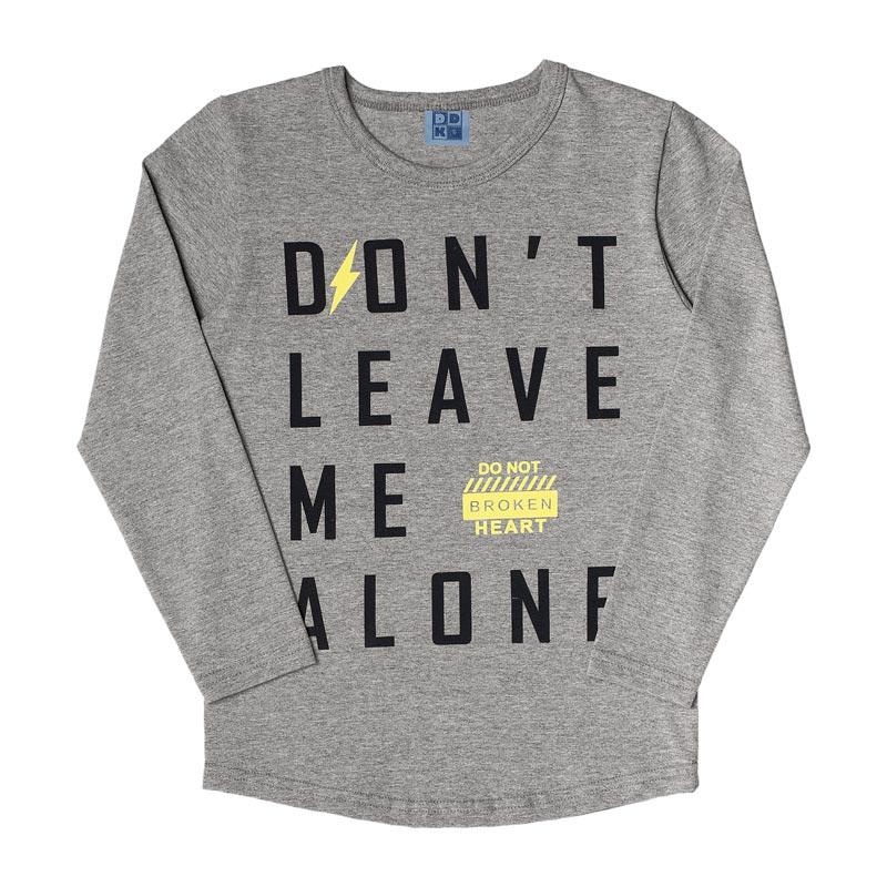 Camiseta DDK Infantil Menino Don't Leave Me Alone Cinza