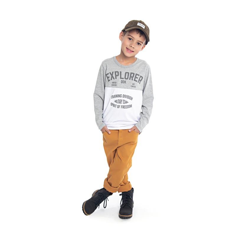 Camiseta DDK Infantil Menino Explorer Cinza