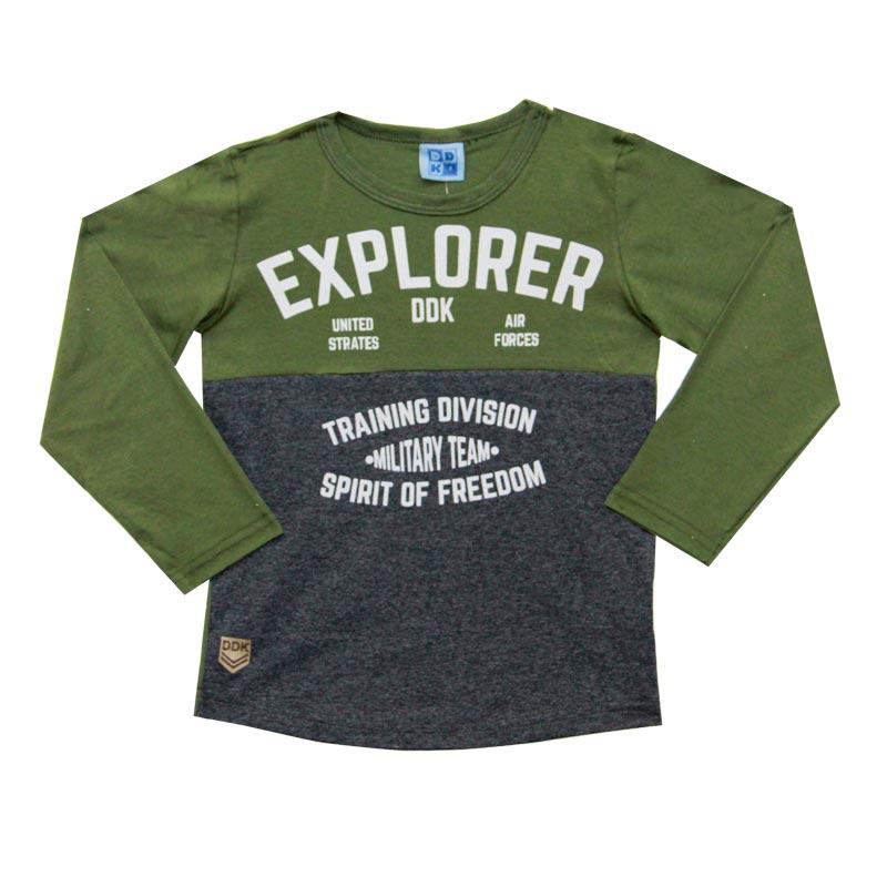 Camiseta DDK Infantil Menino Explorer Verde
