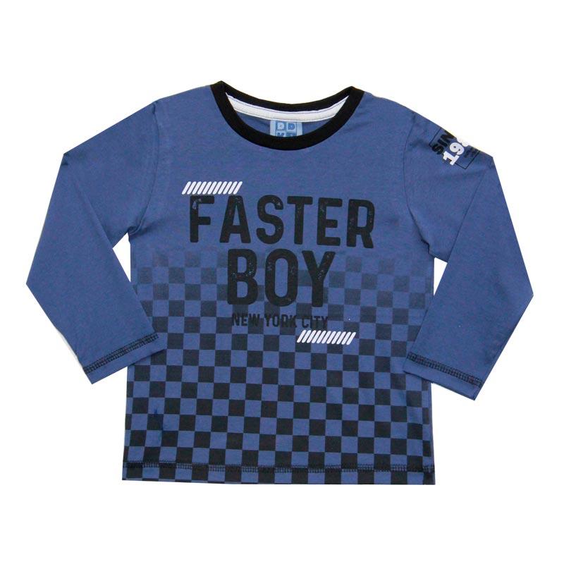 Camiseta DDK Infantil Menino Faster Boy Azul