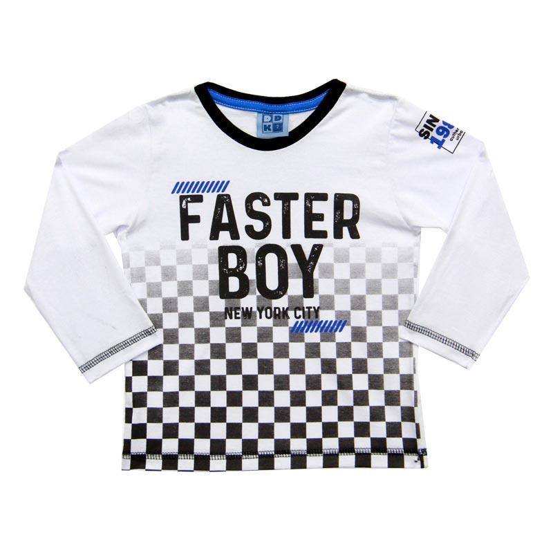 Camiseta DDK Infantil Menino Faster Boy Branco