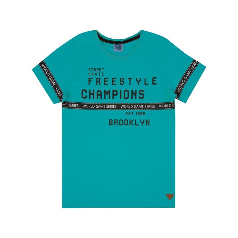 Camiseta DDK Infantil Menino Freestyle Verde