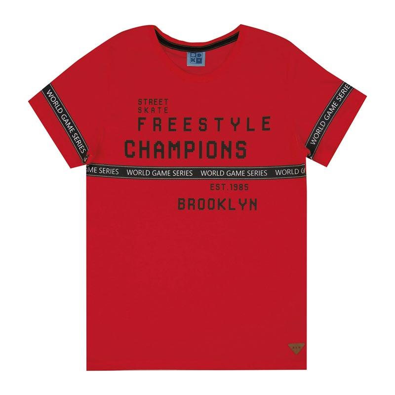 Camiseta DDK Infantil Menino Freestyle Vermelho