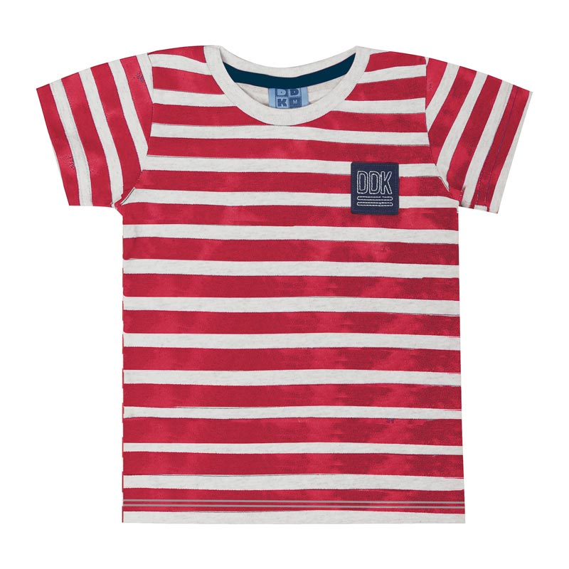 Camiseta DDK Infantil Menino Listrado Cinza