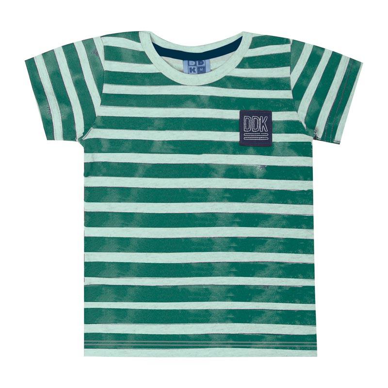 Camiseta DDK Infantil Menino Listrado Verde