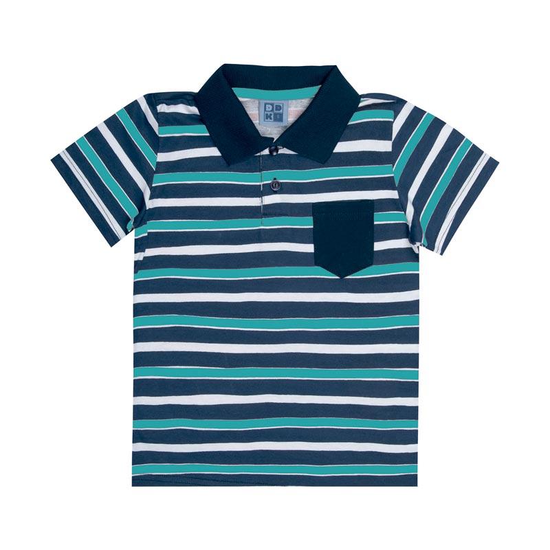 Camiseta DDK Infantil Menino Listras Verde