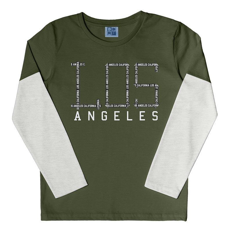 Camiseta DDK Infantil Menino Los Angeles Verde
