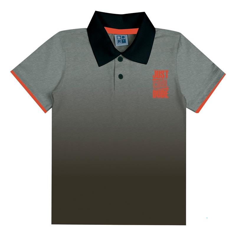 Camiseta DDK Infantil Menino Matte Cinza