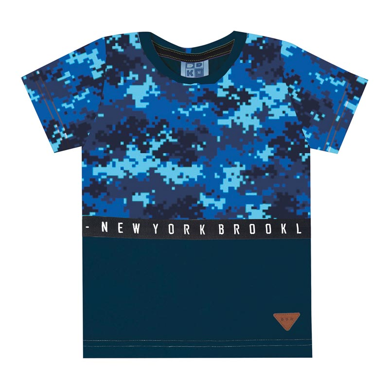 Camiseta DDK Infantil Menino New York Azul