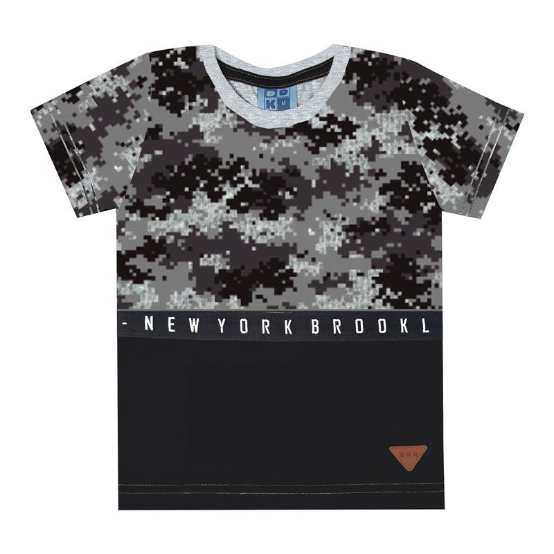 Camiseta DDK Infantil Menino New York Cinza