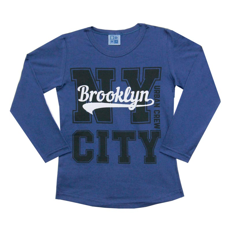 Camiseta DDK Infantil Menino NT City Azul