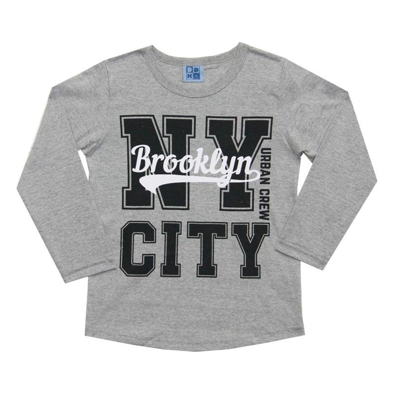 Camiseta DDK Infantil Menino NT City Cinza