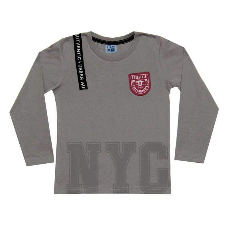 Camiseta DDK Infantil Menino NYC Cinza