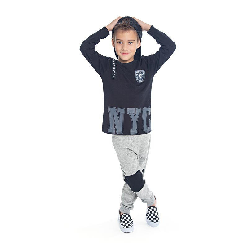 Camiseta DDK Infantil Menino NYC Preto